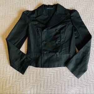 Ralph Lauren black silk blend crop jacket, size 6